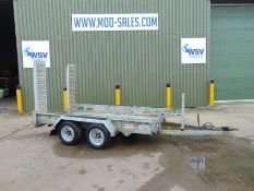 Indespension 3,500kg Twin Axle Plant Trailer c/w Ramps