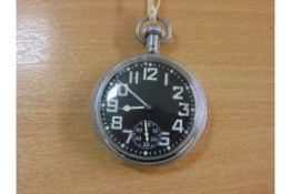 WALTHAM NON LUMINOUS 9 JEWEL POCKET WATCH ROYAL NAVY ISSUED