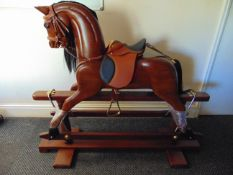 Beautiful Traditional Victorian Wooden Hand Carved Rocking Horse