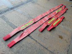 Qty 4 x Spanset 5000Kg Lifting Slings 1 x 1m, 1 x 2m & 2 x 3m