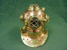 Unissued Repro Brass and Copper US Navy Mk 4 Divers helmet