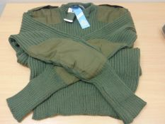 """RARE UNISSUED BRITISH ARMY """"WOOLY PULLY"""" STANDARD ISSUE WOOL PULOVER SIZE 5 ORIGINAL DATED 1991"""