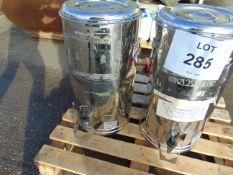 2 X MOD 25 Ltr STAINLESS STEEL TEA URNS