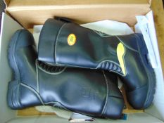 New Unissued Jolly Crosstech Gore-Tex Leather Firefighters, Bikers, Rigger Boots Waterproof SIZE 10