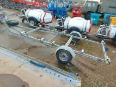 20 FT GALVANISED BOAT TRAILER C/W ROLLERS AND SPARE WHEEL