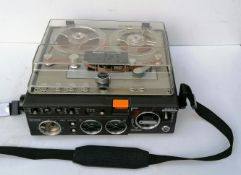 A Vintage Sony Stereo TC-510-2 Tapecorder with original manual, in working order