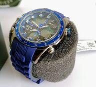 A Skyline WR30M dual time multifunction chronograph stainless steel case, rubber strap gent's watch,