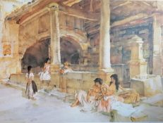 After Sir William Russell Flint, RA (Scottish, 1880-1969), INTERIOR BATHING SCENE, limited edition