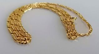 An 18ct yellow gold neck chain, 56 cm, stamped, 7.87g