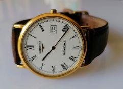 A Longines Grande Classique gent's quartz wristwatch, L4.655.2, Roman numerals, stainless steel
