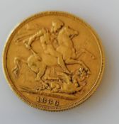 A Victorian gold full-sovereign, 1886