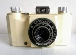 A cased Ilford Advocate Series 'Black Face' Camera, 1950's, with Wray Lustrar f/3.5 35mm lens,