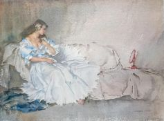 After Sir William Russell Flint, RA (Scottish, 1880-1969), REFLECTION, limited edition print 805/