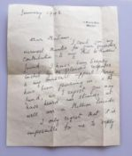 A Lady Clementine Churchill two-sided ink written signed letter on 10 Downing Street, Whitehall