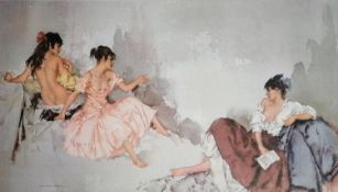 After Sir William Russell Flint, RA (Scottish, 1880-1969), THE LETTER, limited edition print 139/