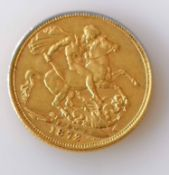 A Victorian gold full-sovereign, 1872