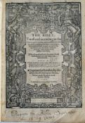 """A 16th century """"Breeches"""" Bible: 'The Bible: Translated according to the Ebrew and Greeke, and"""