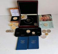 A cased Falkland Islands 2006 1/25 gold crown Isambard coin together with a cased Tristan da Cunha