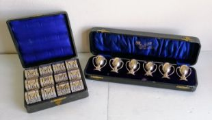 A George V cased set of six miniature silver tygs retailed by Cooke & Kelvey, Calcutta & Simla, made