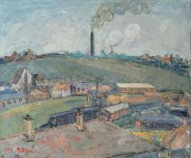 Maurice Blond (1899 - 1974), FACTORY AT WHITEHAVEN, oil on canvas, framed, 45 x 55 cm, signed bottom
