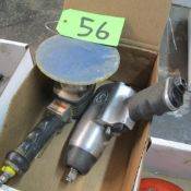 """LOT OF PNEUMATIC TOOLS (CP 1/2"""" IMPACT WRENCH, UNIVERSAL TOOL ORBITAL SANDER) (IN WEST BLDG)"""