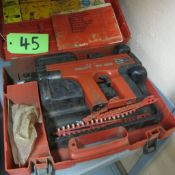HILTI DX450 FASTNER W/SUPPLIES AND CASE