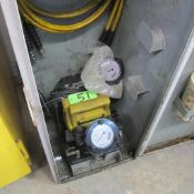 ENERPAK HYDRAULIC POWER PACK W/DIAG GAUGES, HOSES AND PORTABLE DOLLY ENCLOSURE (IN WEST BLDG)