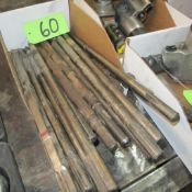 LOT OF JACKHAMMER ATTACHMENTS (IN WEST BLDG)