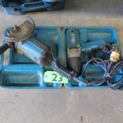 """LOT OF 2 MAKITA POWER TOOLS (7"""" HEAVY D UTY DISK GRINDER, 6905B 1/.2"""" IMPACT WRENCH) (IN WEST BLDG)"""