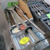LOT OF CHISEL BIT ATTACHMENTS AND 15 PIECE SPADE BIT SET (IN WEST BLDG)