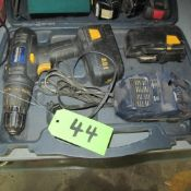 MASTERCRAFT 18 V CORDLESS DRILL W/CHARGER, 2 BATTERIES AND CASE
