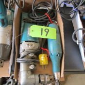 """LOT OF 2 MAKITA POWER TOOLS (6300LR 1/2"""" ANGLE DRILL, 906 1/4"""" TIP GRINDER/POLISHER) (IN WEST BLDG)"""