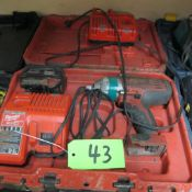 """MILWAUKEE M18 WIRELESS 1/2"""" IMPACT WRENCH W/ CHARGERS, BATTERY AND CASE) (IN WEST BLDG)"""