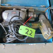 """LOT OF 2 MAKITA/DEWALT POWER TOOLS (16MM DRILL, 2670 1/2"""" IMPACT WRENCH W/CASE) (IN WEST BLDG)"""