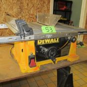 "DEWALT DW744 10"" RACK AND PINION BENCH TOP TABLE SAW (UPPER TOOL CRIB)"
