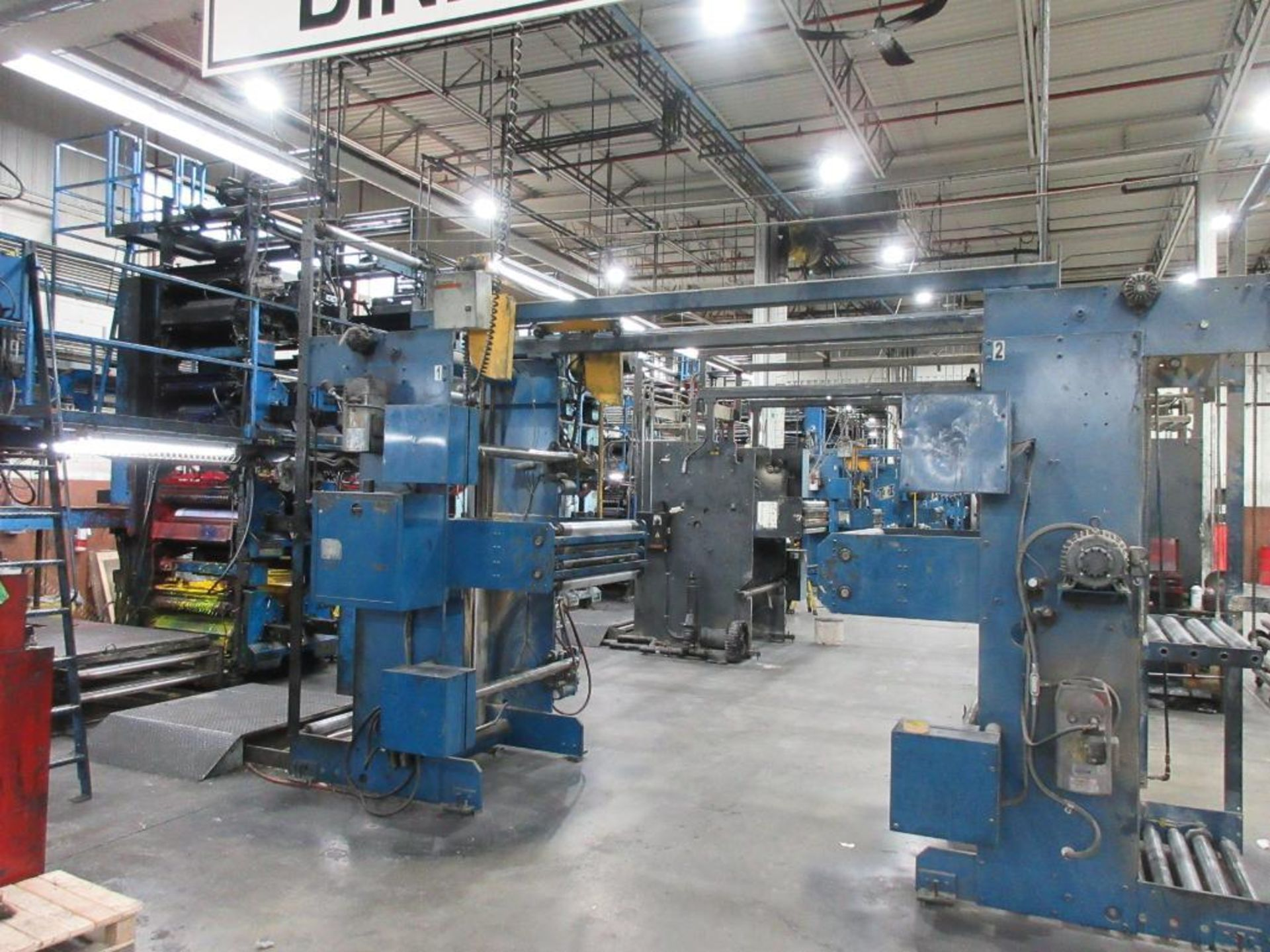 "Complete Goss/Ventura 22.75"" cut off 50 unit web offset press featuring: Ventura 30 4 high (0), Vent - Image 2 of 58"
