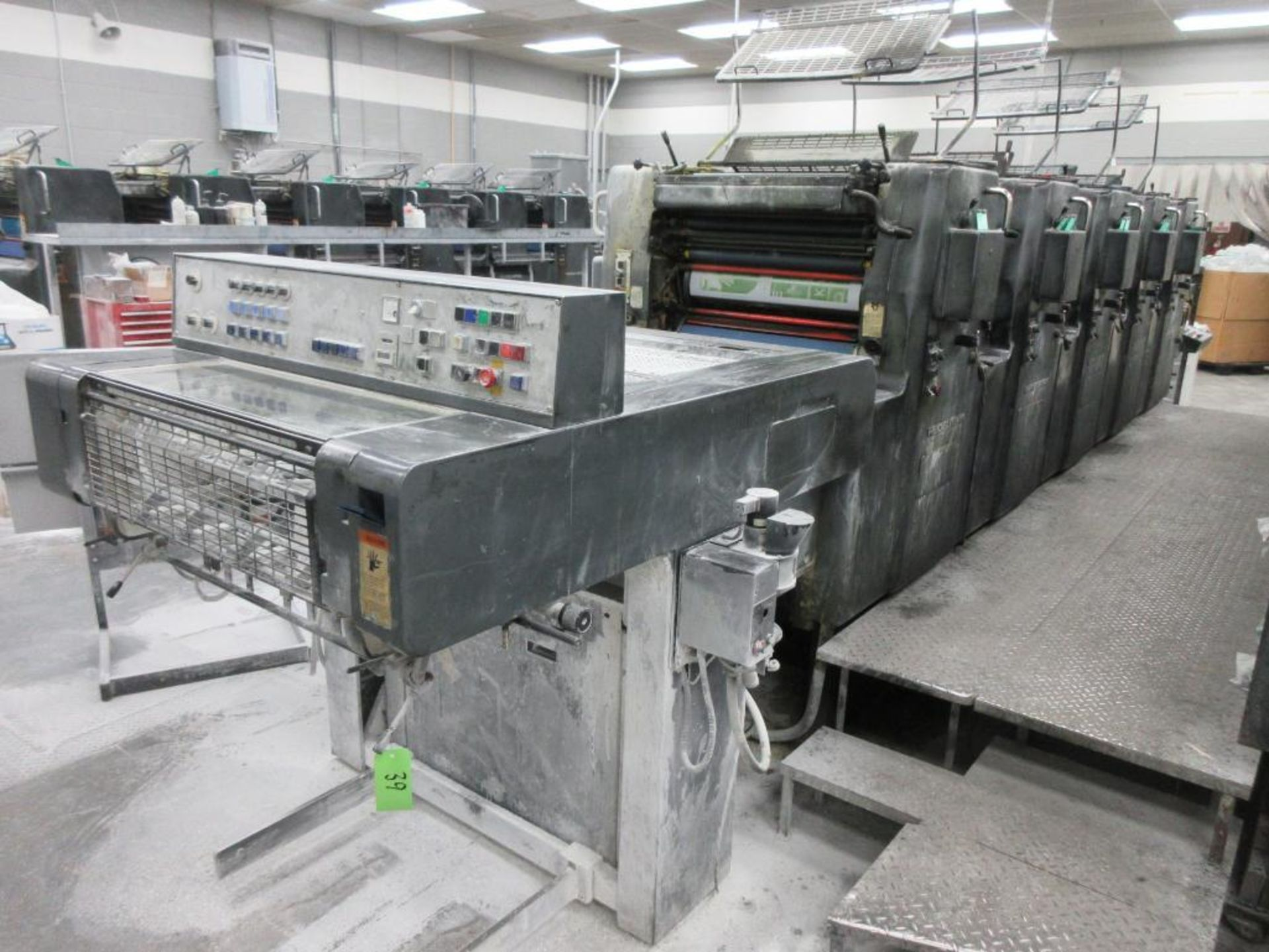 HEIDELBERG MOFP-H 19 x 25_, 5 color sheet fed offset perfecting press with high pile delivery, sn 60
