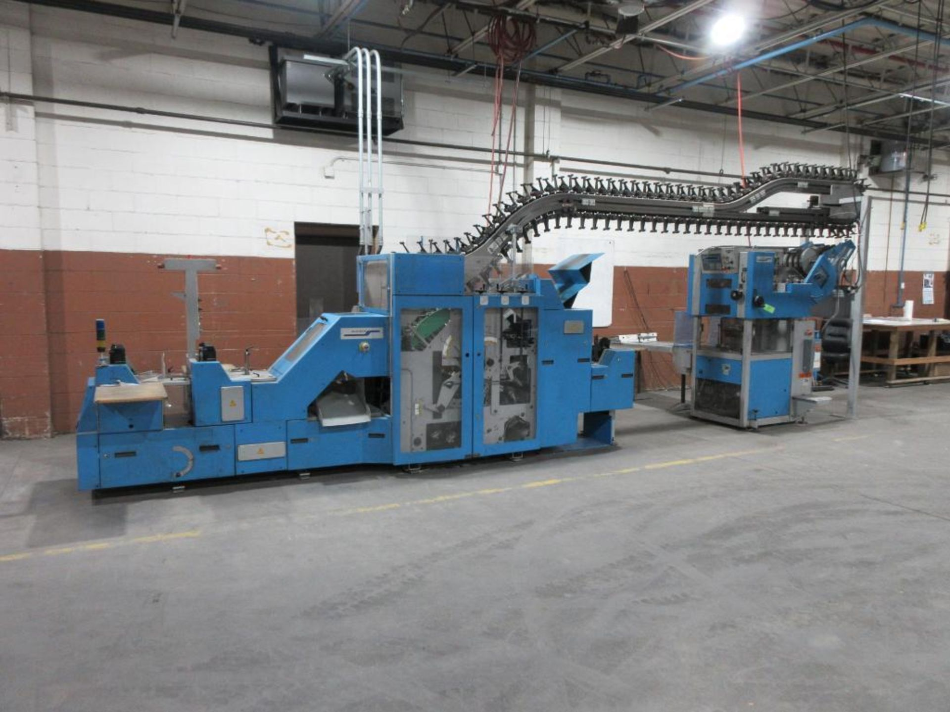 2005 Muller Martini Alphaliner inserter model 7500.0403, minimum pages 4 (tabloid, broadsheet, magaz - Image 2 of 15