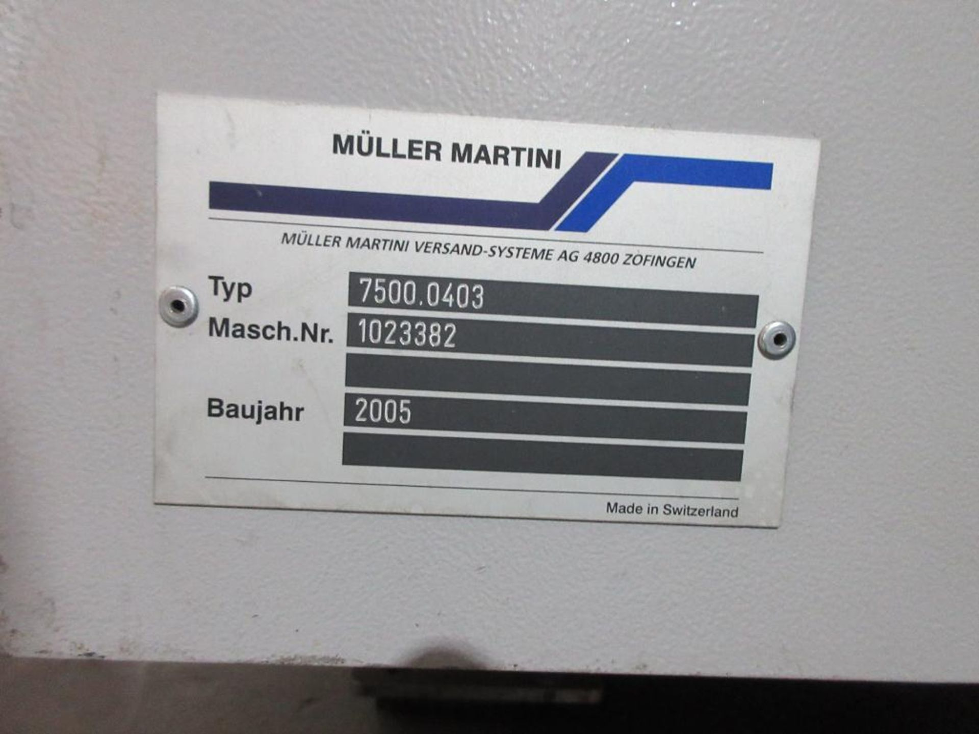 2005 Muller Martini Alphaliner inserter model 7500.0403, minimum pages 4 (tabloid, broadsheet, magaz - Image 8 of 15