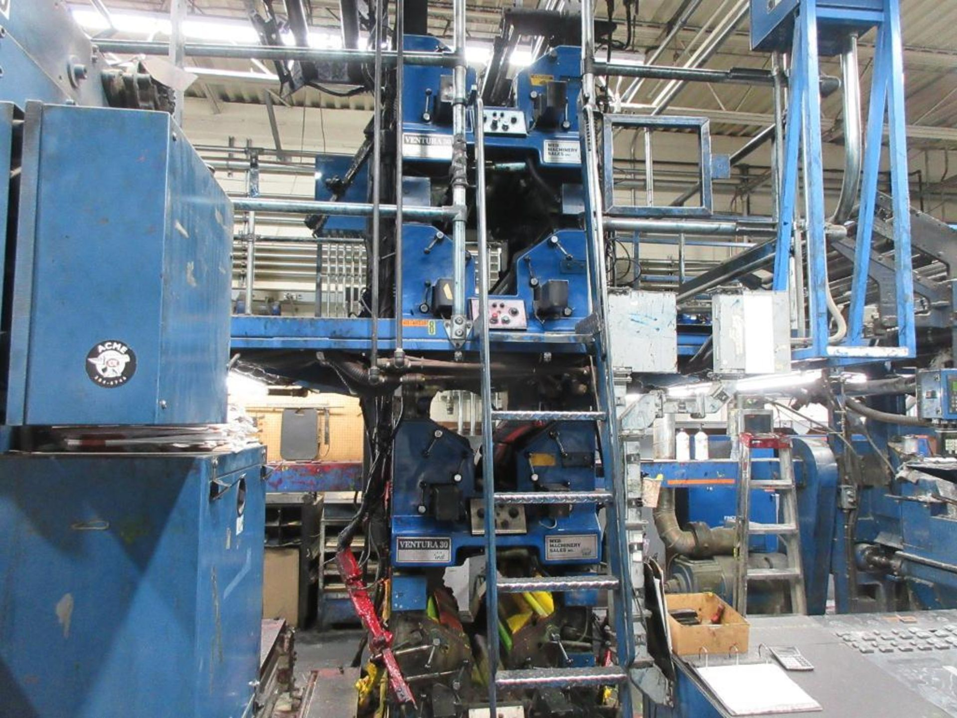 "Complete Goss/Ventura 22.75"" cut off 50 unit web offset press featuring: Ventura 30 4 high (0), Vent - Image 17 of 58"