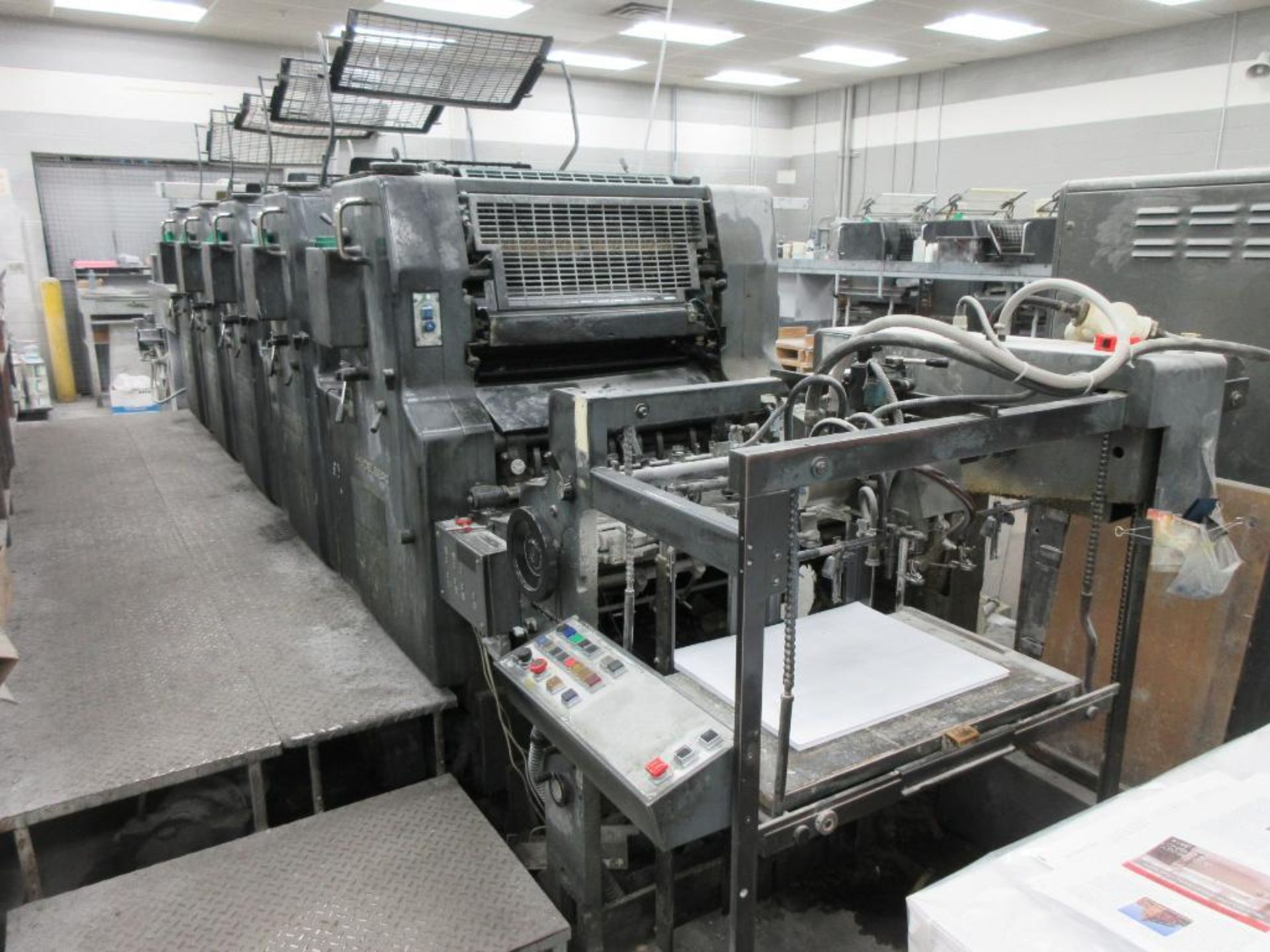 HEIDELBERG MOFP-H 19 x 25_, 5 color sheet fed offset perfecting press with high pile delivery, sn 60 - Image 3 of 11