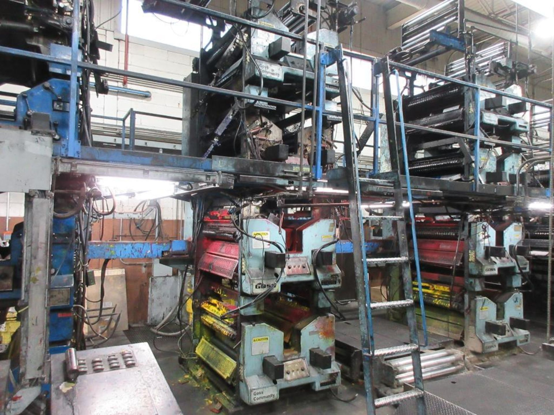 "Complete Goss/Ventura 22.75"" cut off 50 unit web offset press featuring: Ventura 30 4 high (0), Vent - Image 8 of 58"