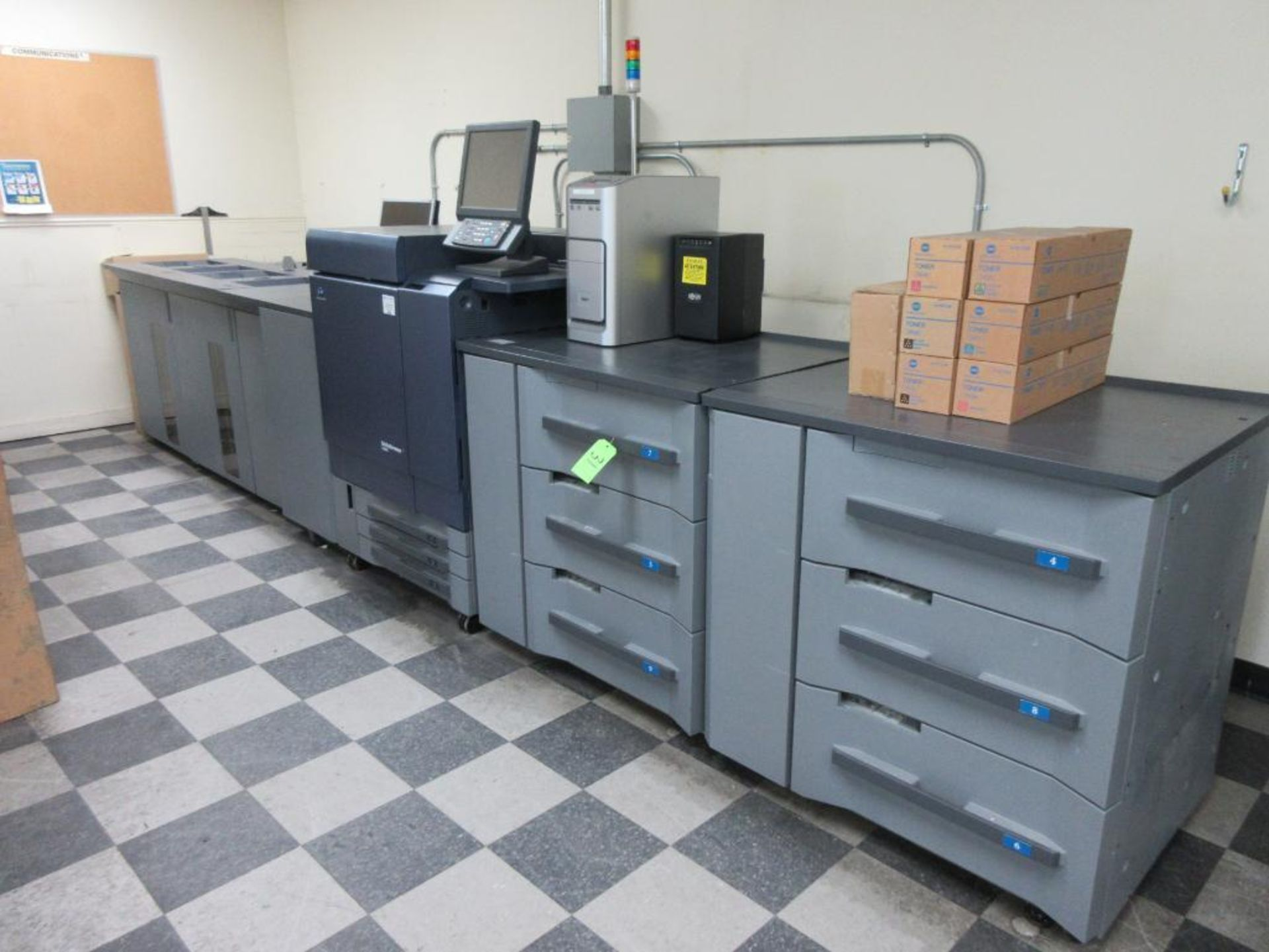 Konica Minolta Digital Press model bizhub press C8000 full colour & B/W 0 PPM capacity, components: