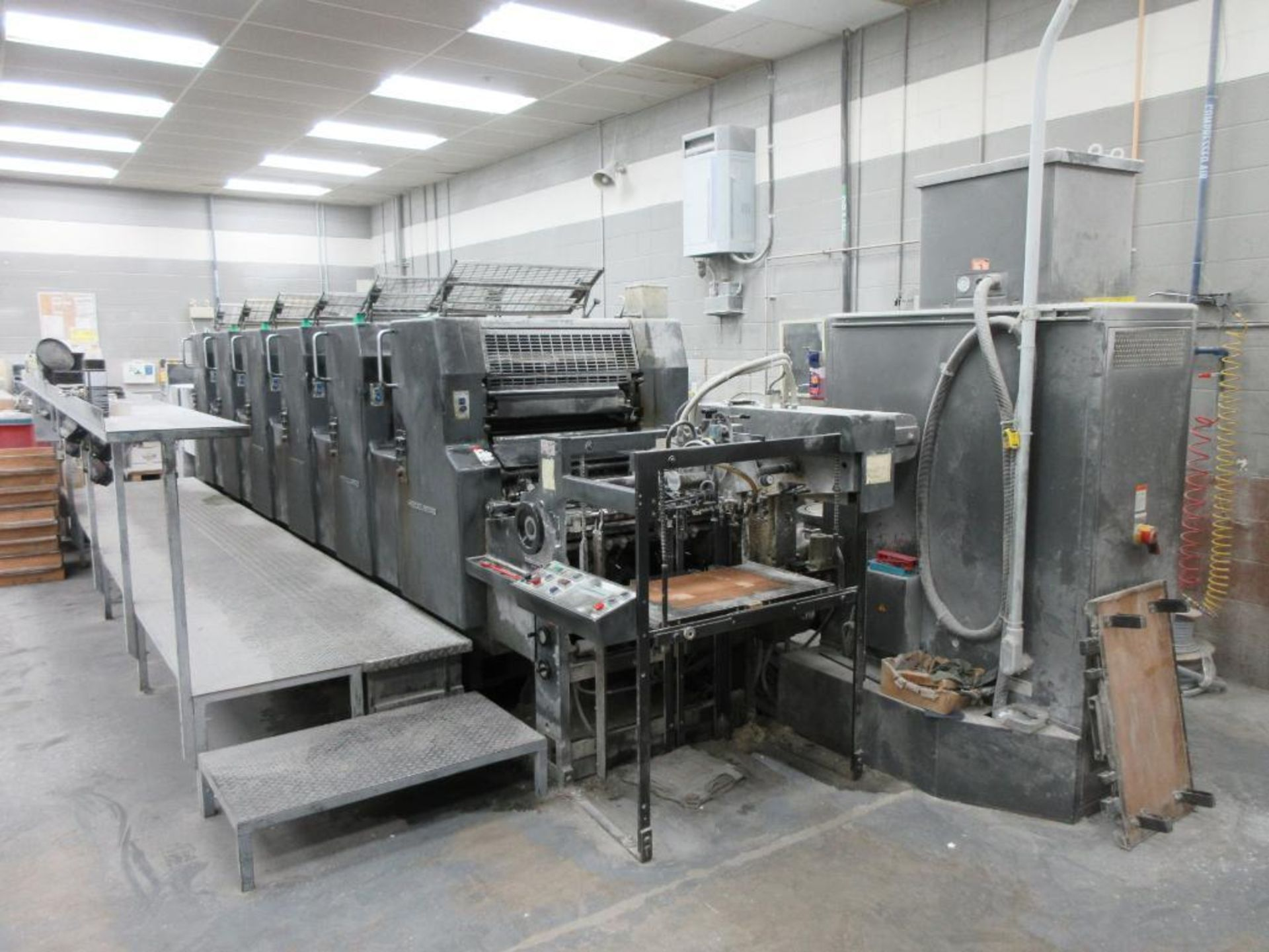 HEIDELBERG MOSP-H 19 x 25_, 6 color sheet fed offset perfecting press with high pile delivery, sn 61 - Image 6 of 10