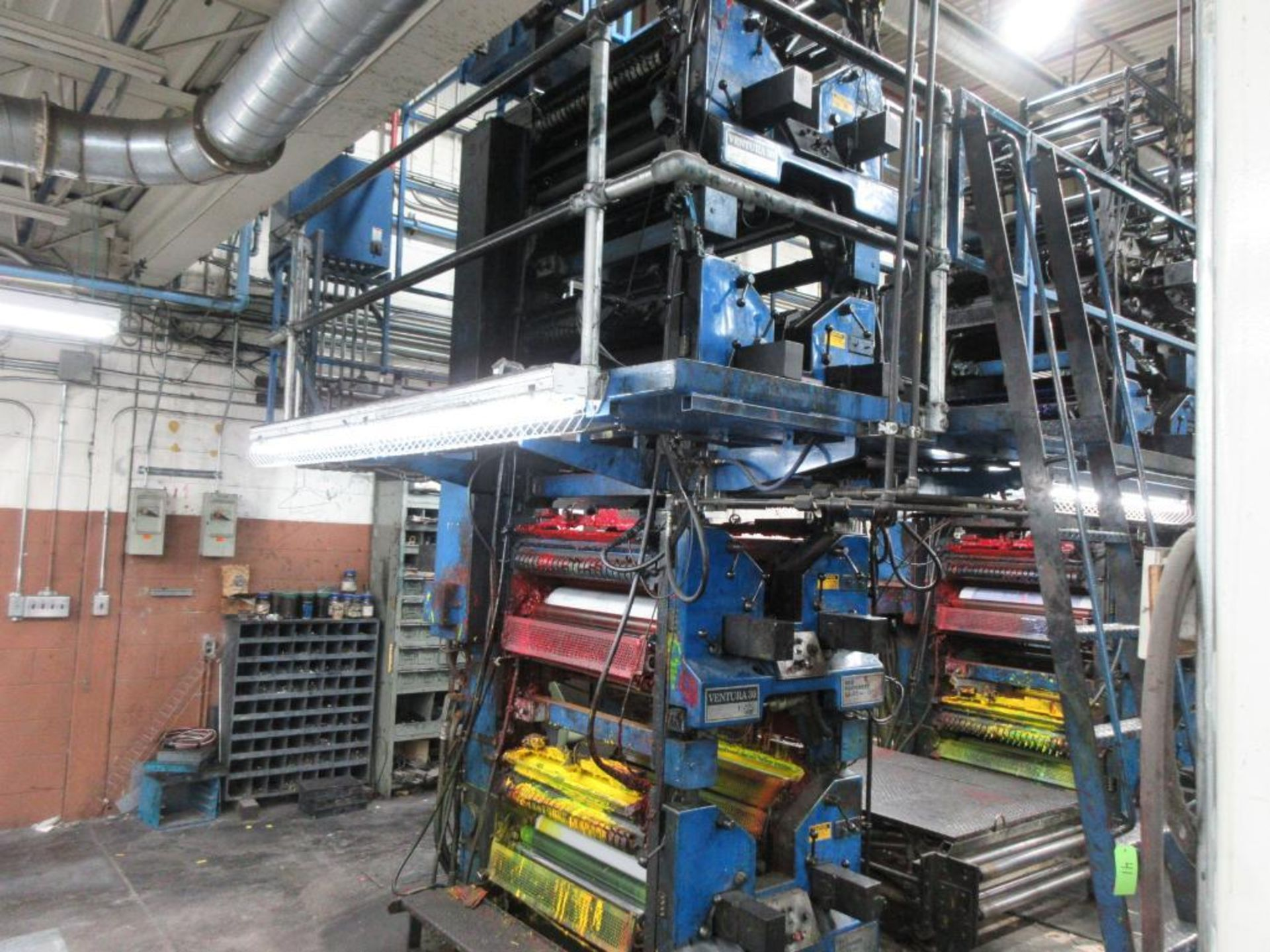 "Complete Goss/Ventura 22.75"" cut off 50 unit web offset press featuring: Ventura 30 4 high (0), Vent - Image 5 of 58"