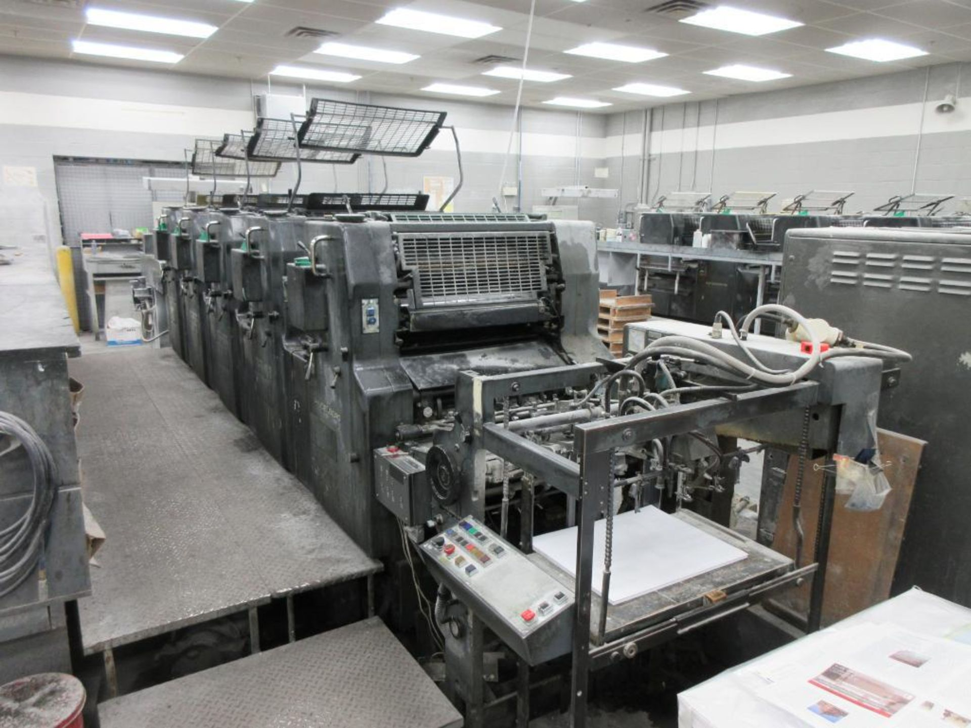 HEIDELBERG MOFP-H 19 x 25_, 5 color sheet fed offset perfecting press with high pile delivery, sn 60 - Image 8 of 11