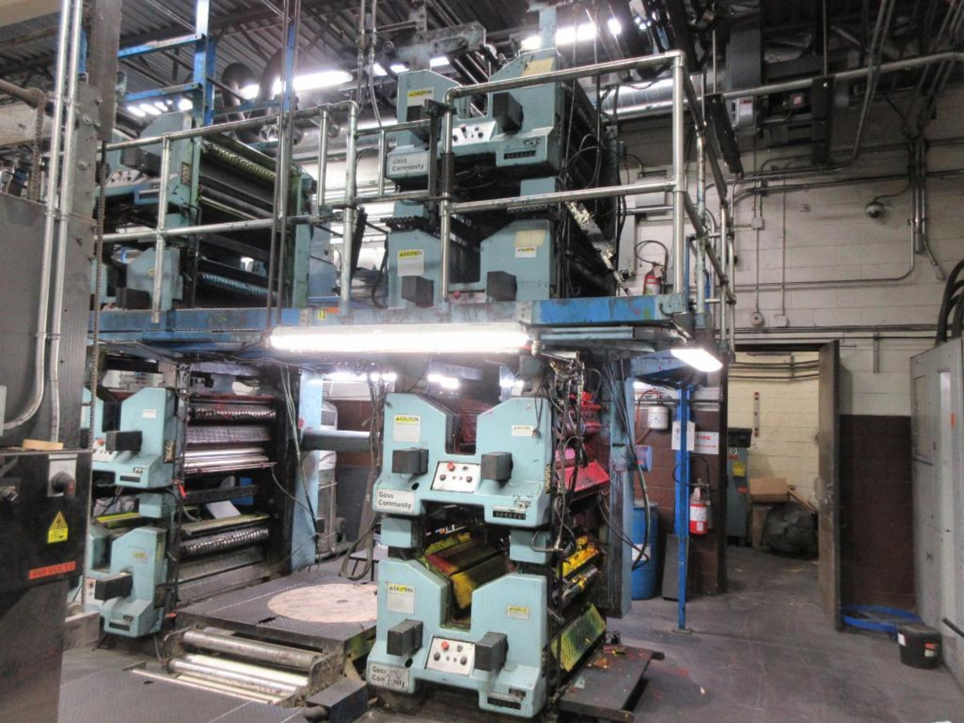 "Complete Goss/Ventura 22.75"" cut off 50 unit web offset press featuring: Ventura 30 4 high (0), Vent - Image 25 of 58"