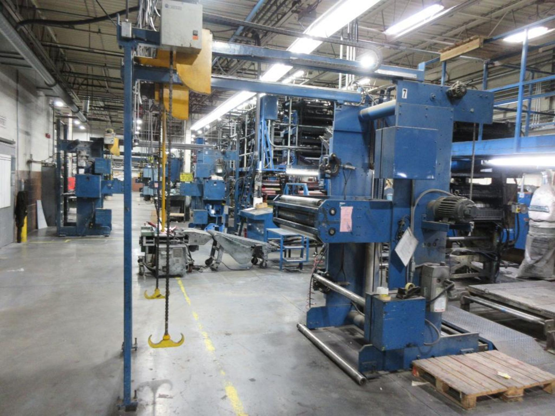 "Complete Goss/Ventura 22.75"" cut off 50 unit web offset press featuring: Ventura 30 4 high (0), Vent - Image 50 of 58"