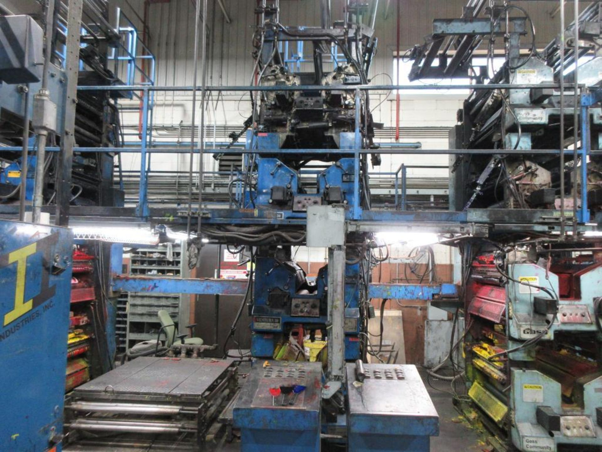 "Complete Goss/Ventura 22.75"" cut off 50 unit web offset press featuring: Ventura 30 4 high (0), Vent - Image 6 of 58"