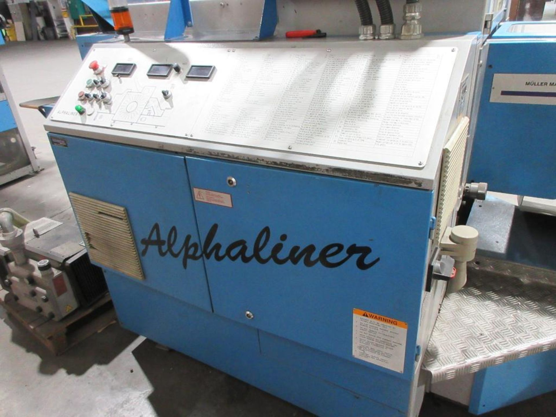 2005 Muller Martini Alphaliner inserter model 7500.0403, minimum pages 4 (tabloid, broadsheet, magaz - Image 7 of 15